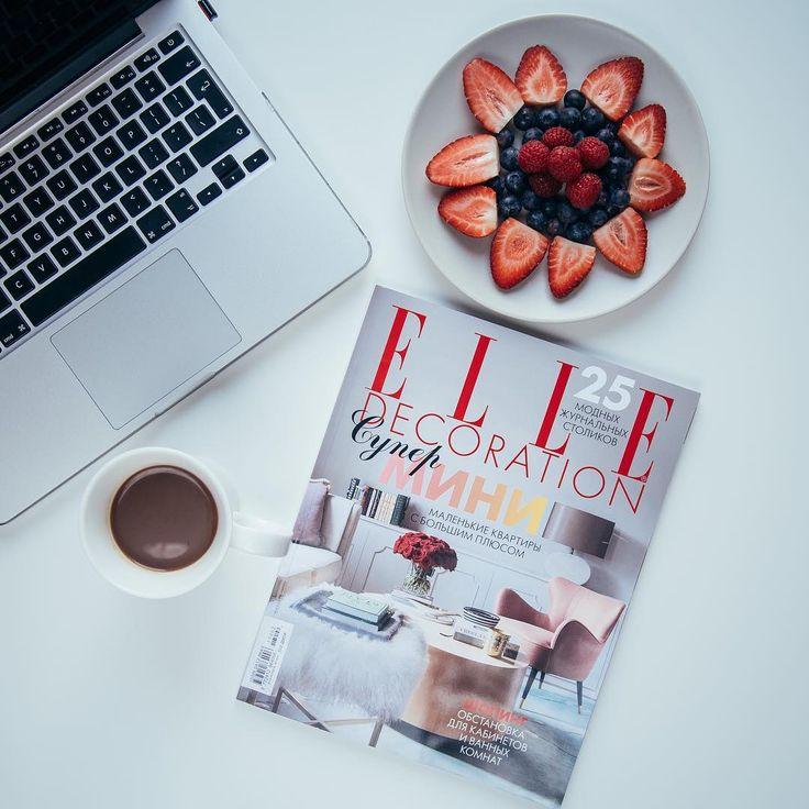 flatlays, elle magazine, decoration, elle decoration, berries, coffee