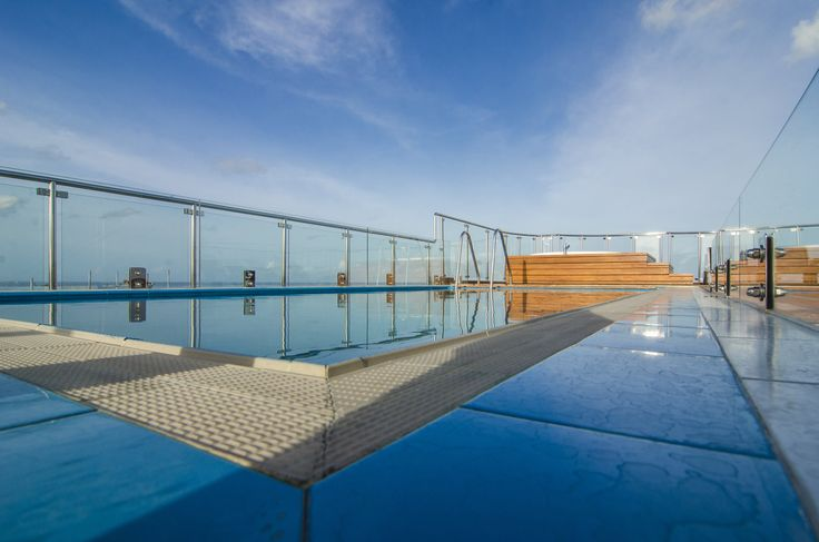 Airport Beach Hotel showcasing rooftop panoramic Swimming Pool and Jacuzzi in Hulhumale, Maldives