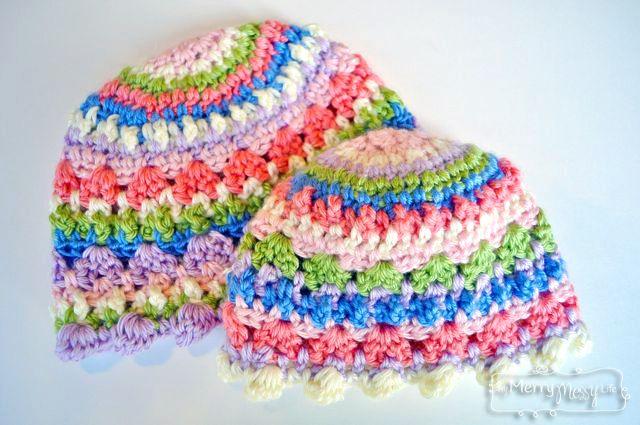 Sugar Love Crochet Baby Girl Beanie Hat - Free Crochet Pattern