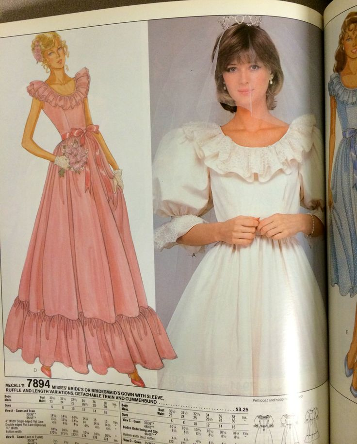 Wedding Gown Pattern From A 1982 McCall's Catalog.