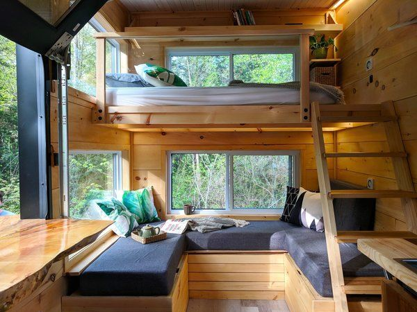 Photo 5 Of 9 In These Snug Off Grid Cabins In Canada Start At 141 A Night From Cabinscape Dwell Haus Tiny House Bedroom Tiny House Cabin Tiny House Living