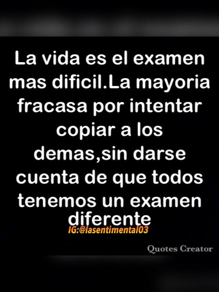 Una frase para reflexionar un poco #frases #imagenes #frasesenespañol #frase #reflexion #verdad #vida #examen