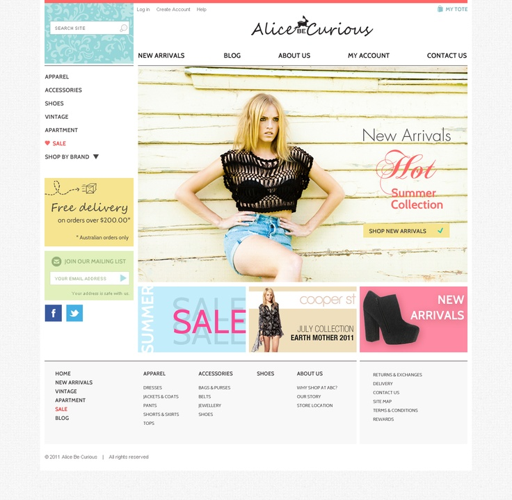 ABC - Layout design - Home page
