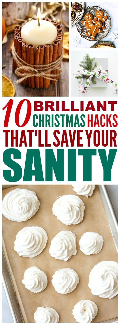 These 10 brilliant Christmas Hacks are THE BEST! I'm so glad I found these AWESOME tips! Now I have some great ways to save time and money for the holidays and make my home smell amazing for Christmas! Definitely pinning! #Christmas #christmasdecor #christmasgifts