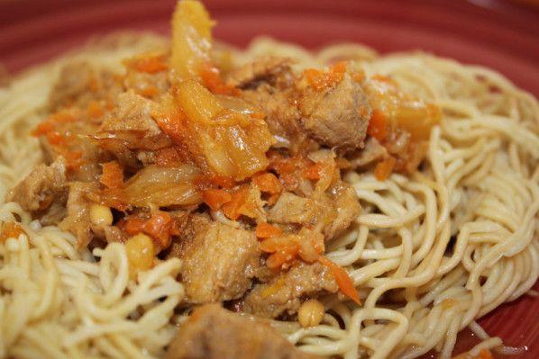 Nouilles chinoises au porc et à l'ananas (recette thermomix) - Les petits plats…