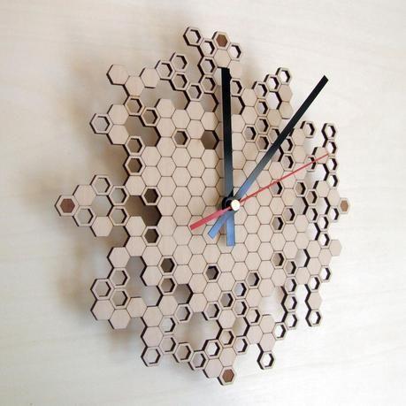 Asymmetree. Parametric + Laser Cut Clocks