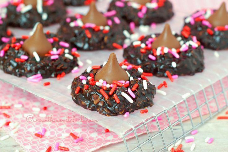 Dark Chocolate Cherry Cordial Cookies ~ I love the deep dark chocolate ...
