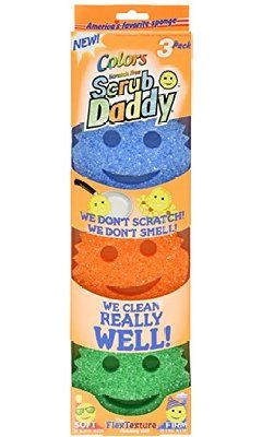 Scrub Daddy, Scratch Free Sponge, Colors, 3 pack