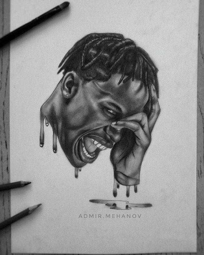 My Drawing Of Rapper Travis Scott Check My Instagram Admir Meh