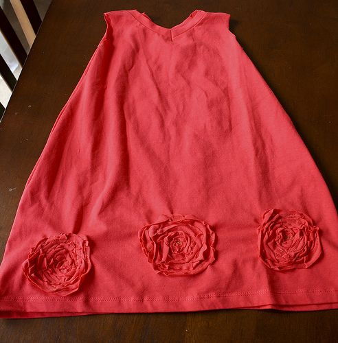 Roses and Ruffles- The T-shirt to Toddler Dress Tutorial