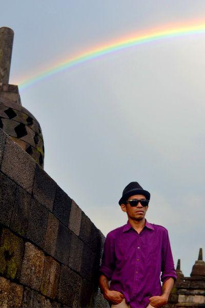 Rainbow on the temple