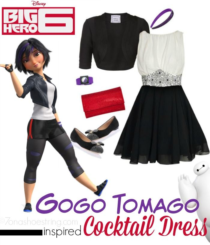 Fashion Inspired by Big Hero 6 Red Carpet - Gogo Tomago inspired cocktail dress #BigHero6Event #DisneyBounding