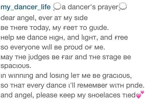 The dancers prayer...   Ballet... my life   Pinterest