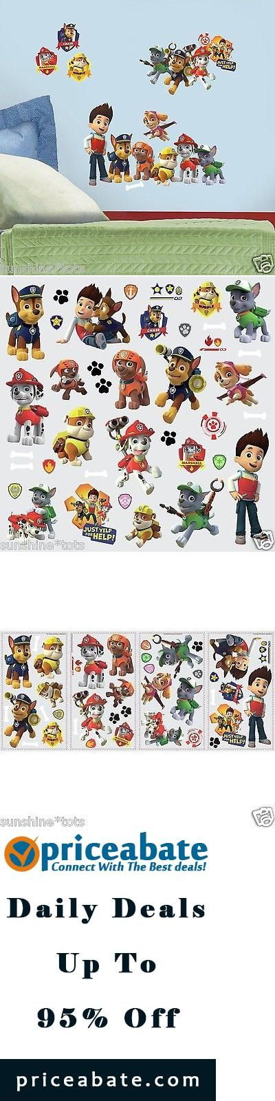 #blackfriday #blackfridaydeals #blackfridaysales Paw Patrol Wall Decals Zuma Rocky Skye Chase Marshall Rubble Figure Stickers - Buy This Item Now For Only: $13.99