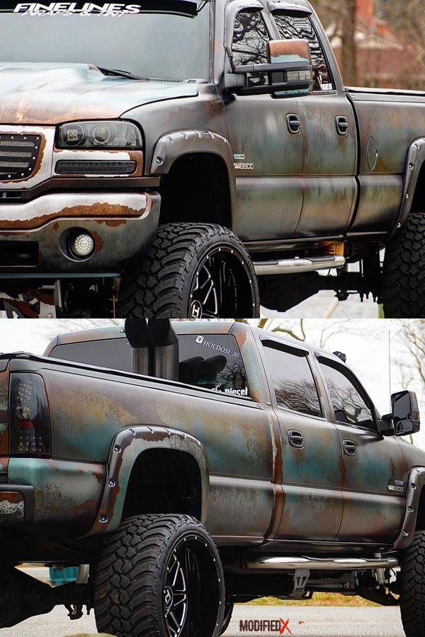 2007 Gmc Sierra 2500 Lbz Classic Custom Rust Wrap Diesel Trucks