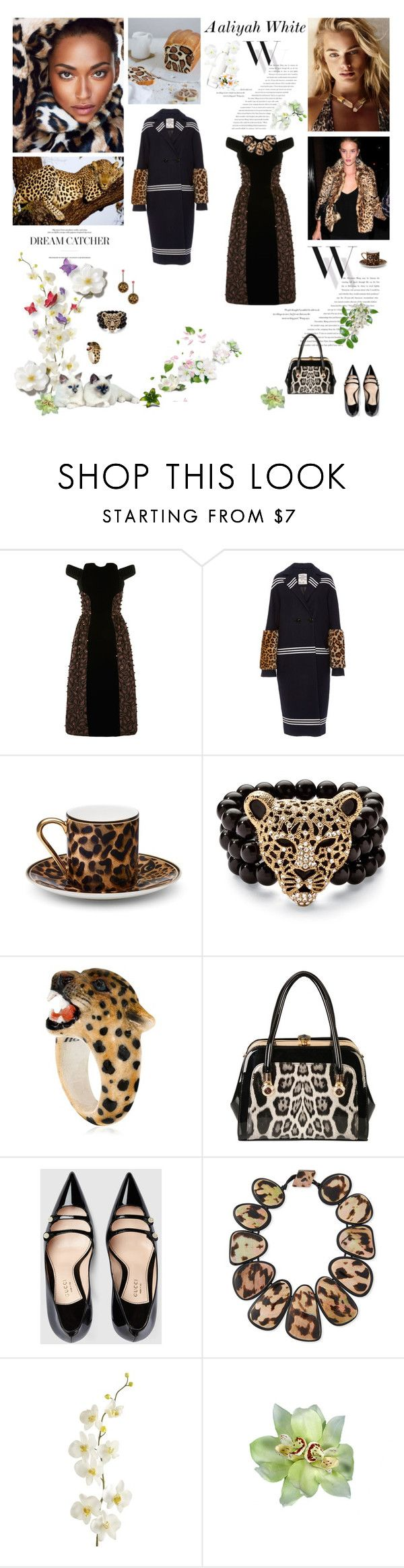 """Aaliyah 2016-445"" by aaliyah ❤ liked on Polyvore featuring Balenciaga, Holly Fulton, Baum und Pferdgarten, Asprey, Palm Beach Jewelry, Nach, Betsey Johnson, Rimen & Co., Gucci and Viktoria Hayman"