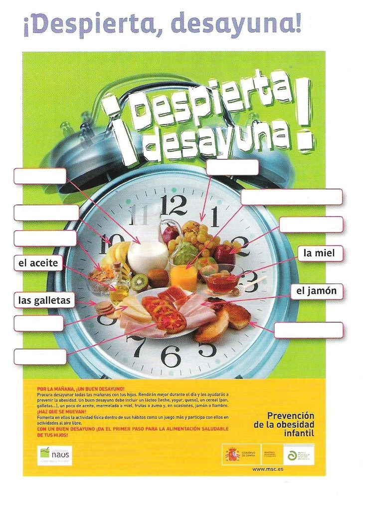385 best spanish food unit images on pinterest spanish lessons cartel despierta desayunag 10151395 pixels forumfinder Image collections