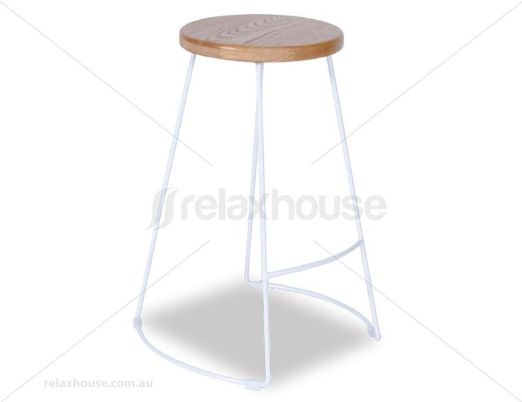 Rory Hong Counter Stool - White Frame / Natural Solid Ash Seat