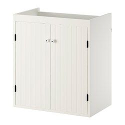 IKEA - SILVERÅN, Wash-basin cabinet with 2 doors, white, , A good solution if you are short of space.