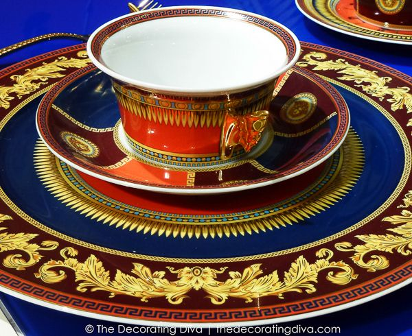 Striking Colors and Details of Versace Iconic Heroes Tableware2013 Ambient, Decor Divas, Ambient Design, Frankfurt Ambient, Icons Heroes, Heroes Tableware, Versace Icons, Crystals Stemware, 2013 Versace