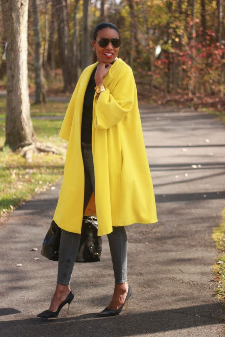 DIY Bright yellow statement coat-Beaute' J'adore