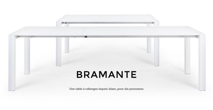 Bramante une table rectangulaire blanche rallonges - Tables a rallonges ...