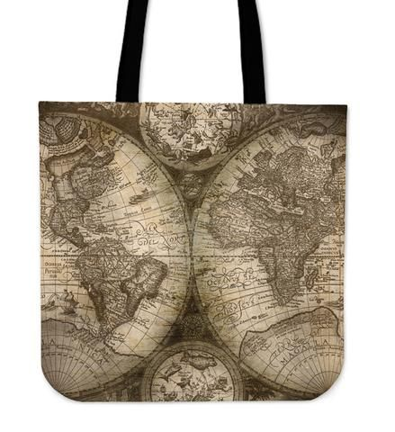 Atlas - Tote Bag that will totally make your Outfit.  Do you love traveling? Don´t miss this beautiful Atlas Tote Bag to carry your items while traveling and for your daily routine.