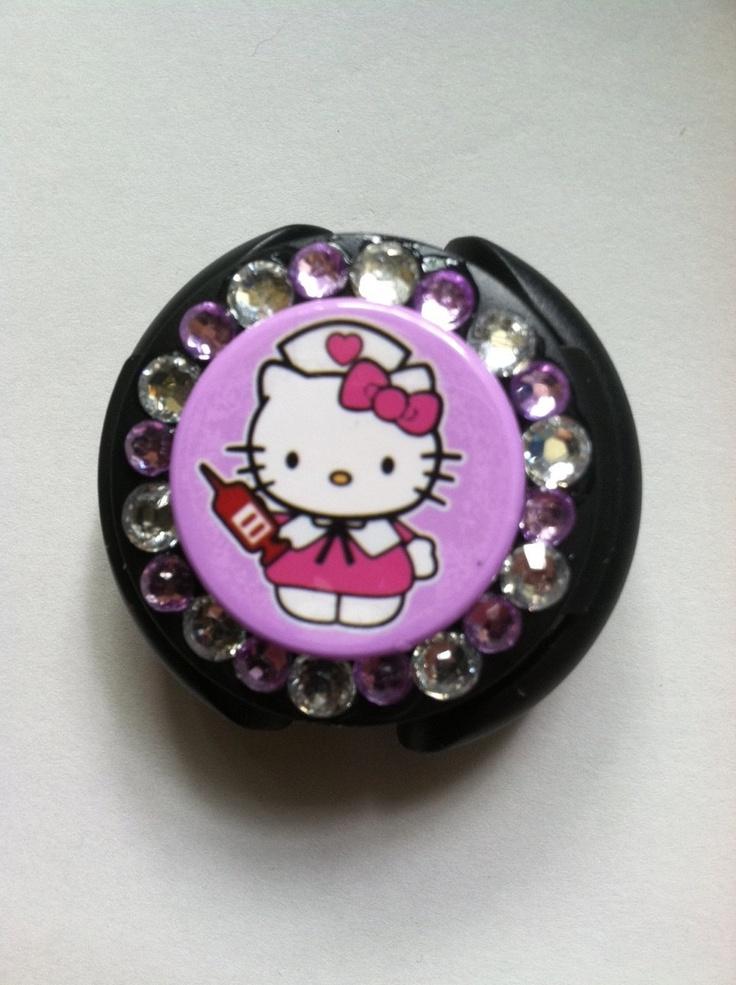 Hello Kitty Nurse Stethoscope ID. $9.00, via Etsy.