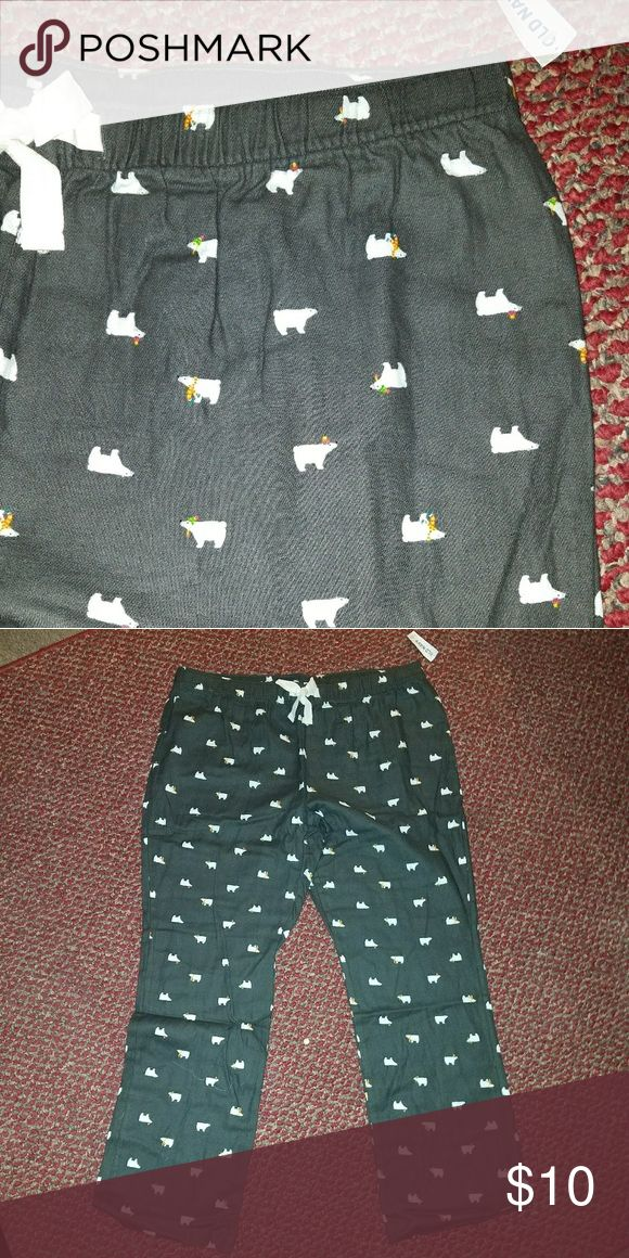 Old navy pajama/ lounge pants Old navy new with tags pajama pants naby blue with polar bear print size XL Old Navy Intimates & Sleepwear Pajamas