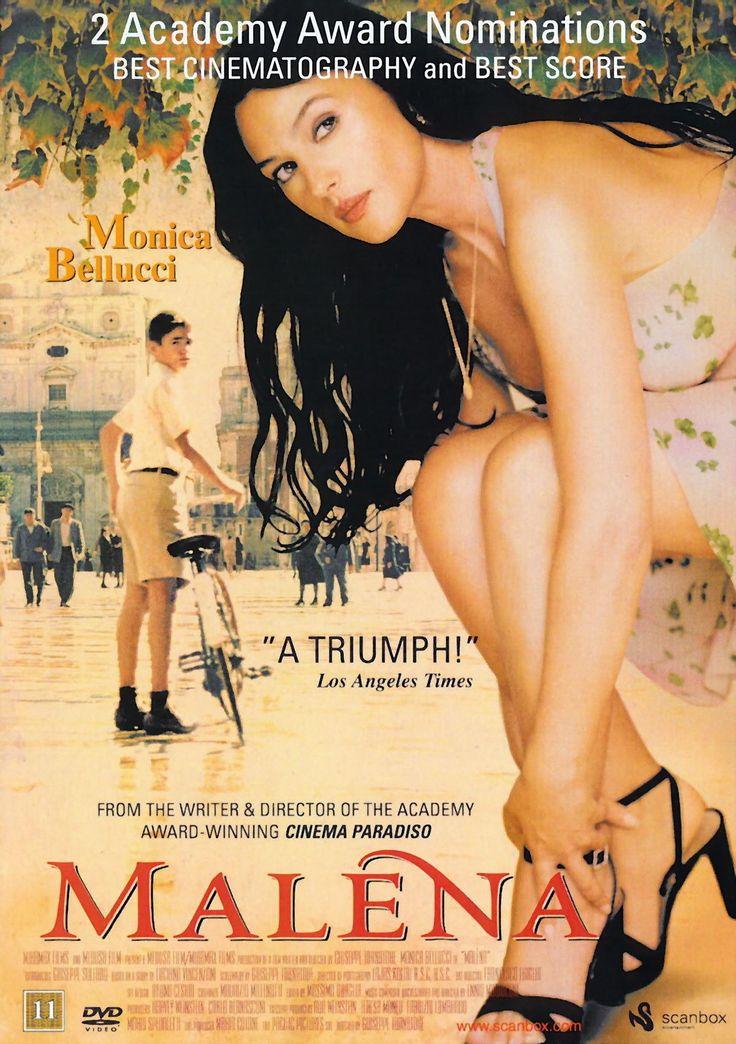 Malèna (2000)  Italian romantic drama starring Monica Bellucci and Giuseppe Sulfaro. Directed and written by Giuseppe Tornatore #sicilycinema #cinema