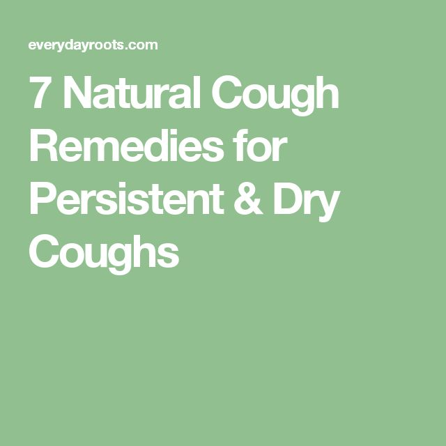 how to stop a persistent dry cough