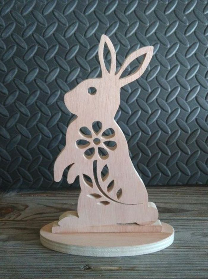 Easter Decoration Made Of Wood Beautiful Craft Ideas And