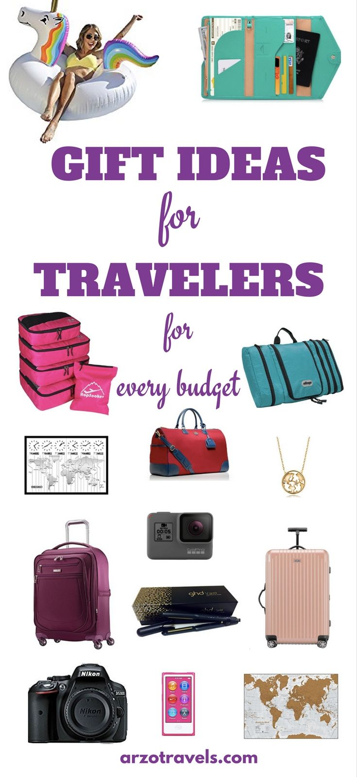 Wondering what to get a travel addict if not a trip? Here are some gift ideas for travelers - for every budget - great gifts for women - birthday presents, Christmas presents, Valentines day presents, or for whatever kind of events :)