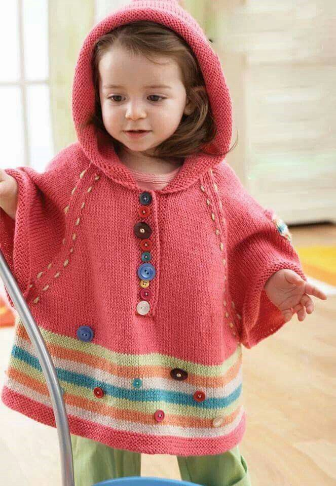 55 Best Images About Knitting Poncho Capelet For Kids On