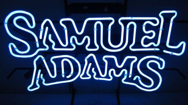 Samuel Sam Adams Neon Beer Sign Bar Pub Light Up Man Cave REAL NEON #SamuelAdams