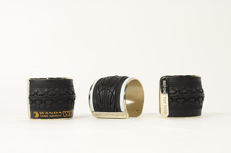 """""""Once I was a tire"""" bracelets by Carmina Campus. FW2014"""