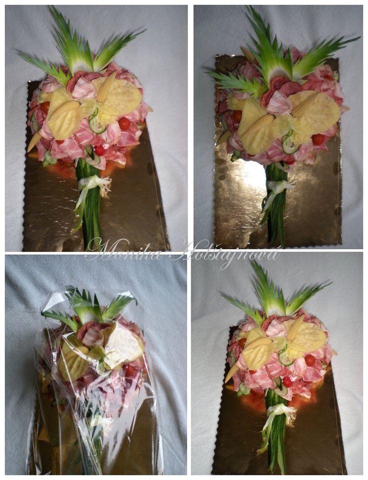 sklaná kytice