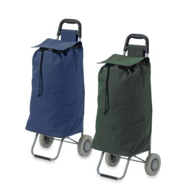 IADL AE -- Laundry/Groceries : Drive Medical Lifestyle Essentials Rolling Shopping Cart with Canvas Bag - BedBathandBeyond.com