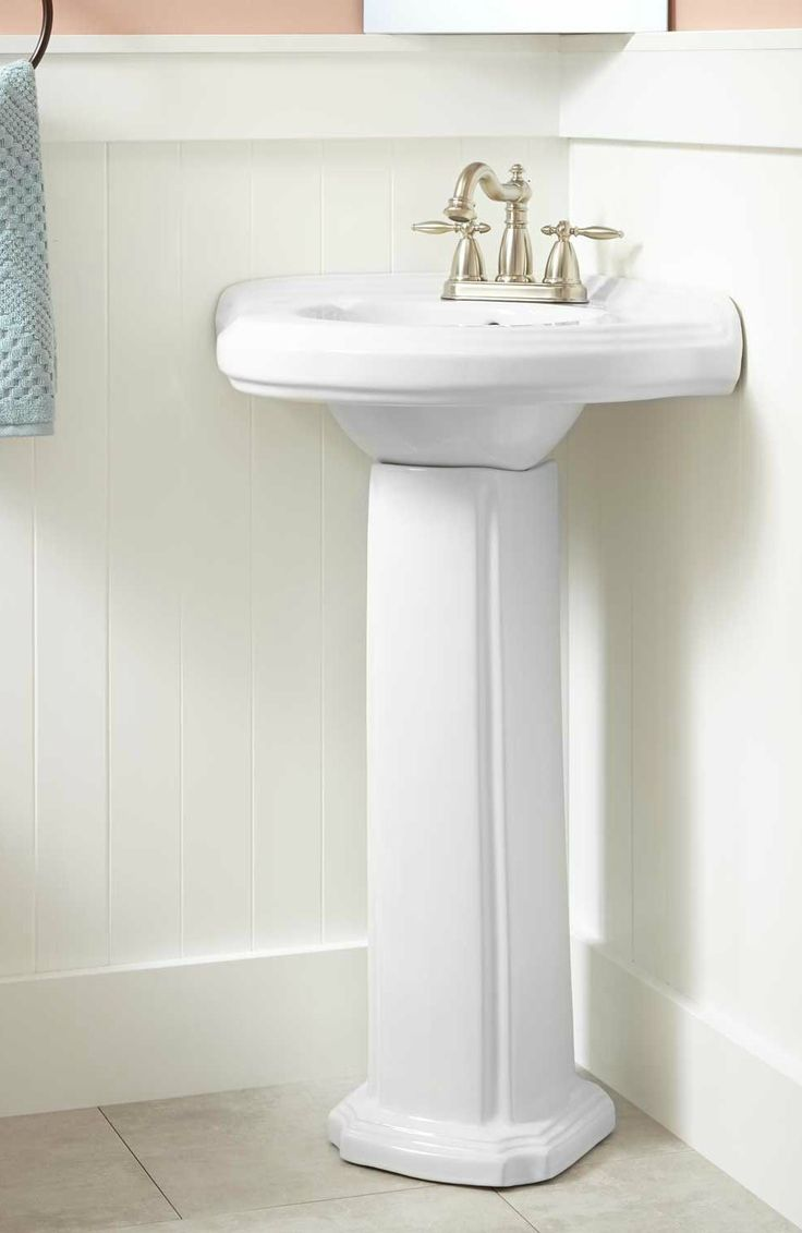 Gaston Corner Porcelain Pedestal Sink. Corner Pedestal SinkHalf  BathsBathroom ...