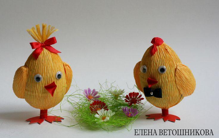Пасхальные цыплята из киндер сюрприза. Мастер-класс