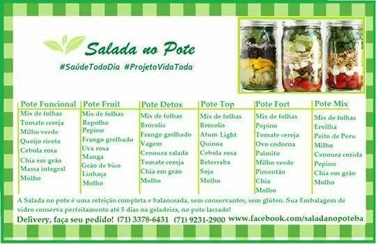 Resultado de imagem para salada de pote como fazer