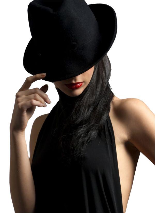 Картинки на аву для девушек в шляпе