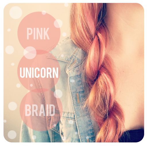 temporary hair tint; baby pink; pink unicorn braid; temporary hair color; the beauty department