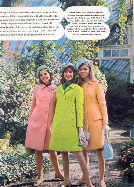 Pastel Winter Coats 1960s