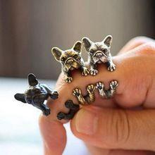 新しいファッション3色ヴィンテージアンティークヒッピーシックな犬オープンサイズリングかわいい動物リング工場価格ファインジュエリー(China (Mainland))