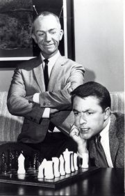 Ray Walston and Bill Bixby - publicity shot for My Favorite Martian