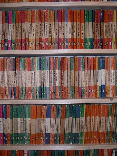 Penguin Porn, Penguin books, paperbacks, vintage, bookshelves