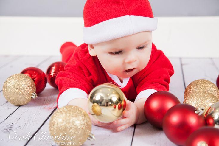 Baby Boy Christmas Holiday Photo    Nicole Christine Photography