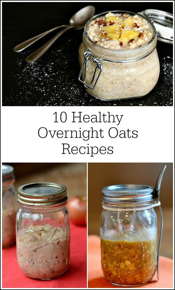 This roundup of healthy overnight oats recipes will help keep breakfast interesting. There's no need to keep eating the same thing every day! These are all so easy to make.