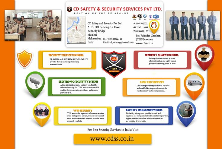 Security Services in India - CDSS Pvt. Ltd (CD Safety & Security Services) is Nations most trusted and credential security services in India offering complete security solutions for your business,home,events ,banks,etc.at economical prices.